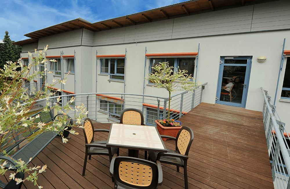 Balkon am Seniorenzentrum Burkhardtsdorf