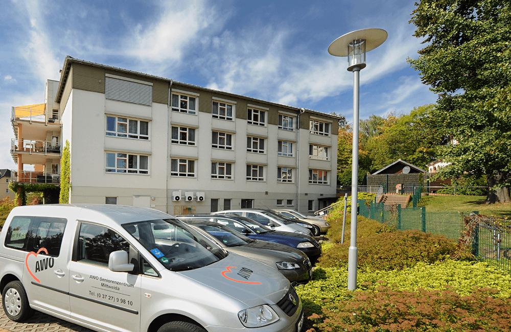Gäste-Parkplätze AWO Seniorenzentrum Mittweida